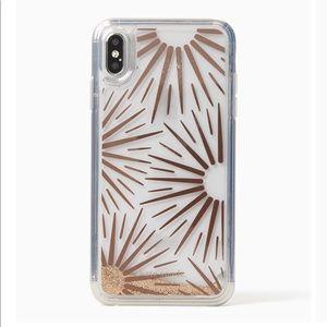 kate spade iPhone XS Max Liquid Glitter Resin Case